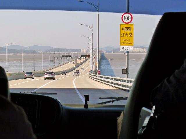 ※全長21.38㎞という仁川大橋