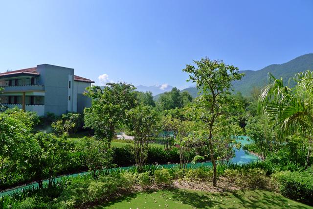 ※ホテルの緑の維持と管理は美しい。