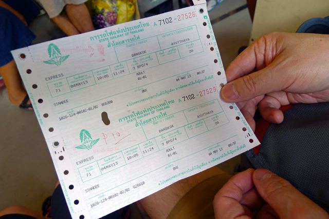 Ticket for train