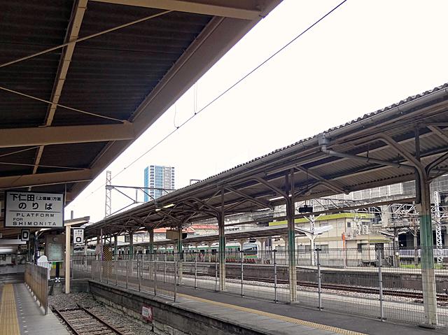 上信電鉄のホーム