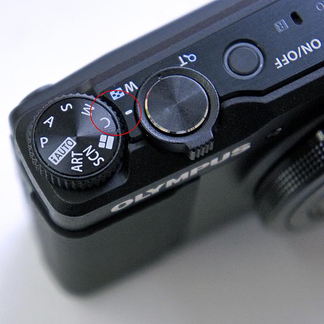モードダイヤルは「C」に固定で撮影。