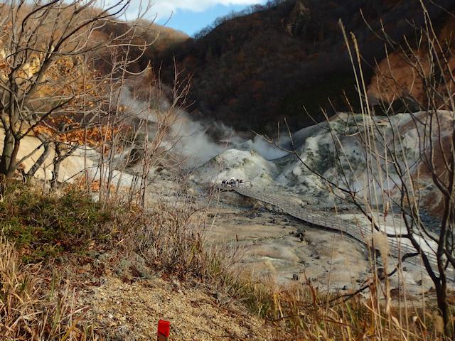 地獄谷では人気のスポット「鉄泉池」のまわり
