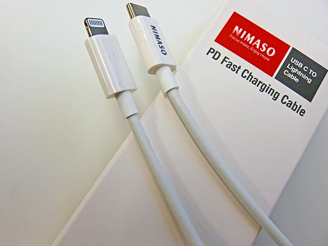 USB Type C to LightningケーブルはApple MFi認証取得のもの