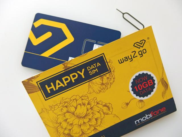 mobifoneの 10日間 4G/3Gデータ通信10GB SIMカード