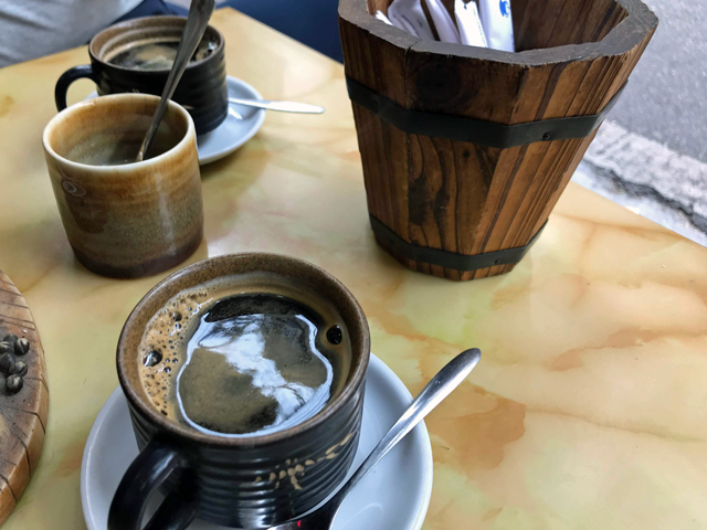 Hue cafeでホットなコーヒータイム