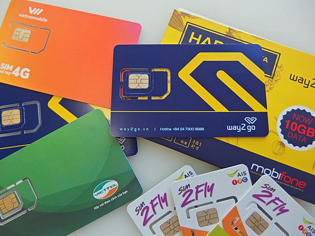 アジア周遊SIM2FlyとベトナムキャリアのプリペイドSIMカード