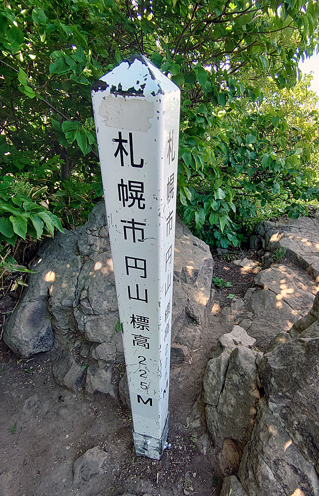 標高225mと小さな山でお子さんも登れますが、山頂は注意です。