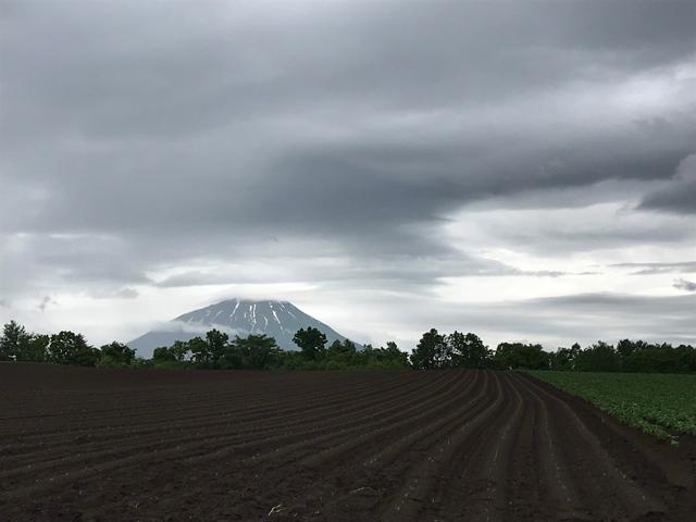 国道230号線から見る「羊蹄山」