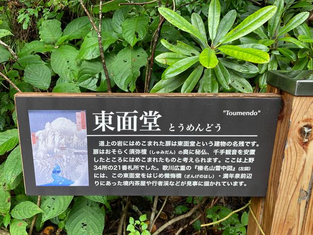 上野国(現在の群馬県)三十四ヶ所観音霊場の一つと書かれています。