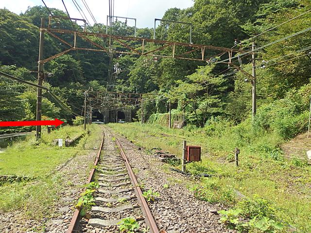 新線の線路脇の道が開放されていて、トンネルに近づくことができました。