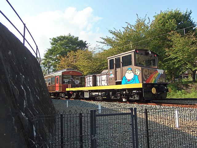 15時10分発「とうげのゆ」行き最終列車が「ぶんかむら」駅を出発しました。